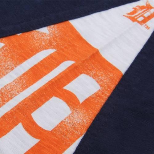 HANDS HIGH デトロイト タイガース スリーブ Tシャツ 紺 ネイビー メンズファッション トップス カットソー メンズ 【 Detroit Tigers Long Sleeve T-shirt - Navy 】 Navy