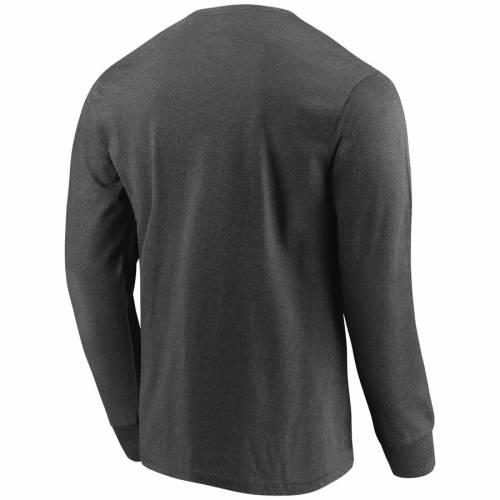 マジェスティック MAJESTIC セインツ キック スリーブ Tシャツ チャコール メンズファッション トップス カットソー メンズ 【 New Orleans Saints Big And Tall Kick Return Long Sleeve T-shirt - Heathered Char