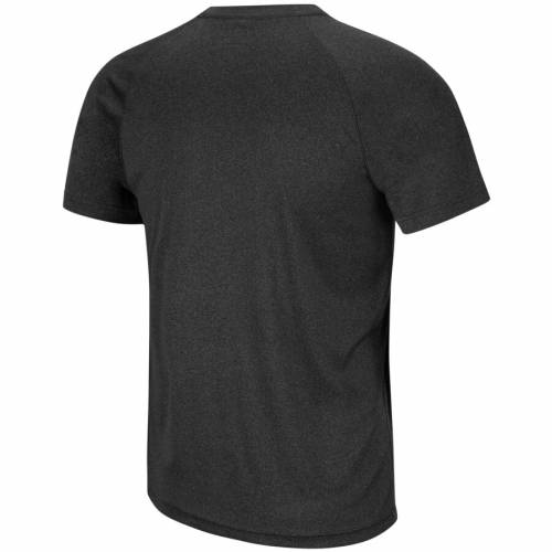 COLOSSEUM ラムズ パフォーマンス ラグラン Tシャツ 黒 ブラック メンズファッション トップス カットソー メンズ 【 Vcu Rams Gradient Stack Performance Raglan T-shirt - Black 】 Black