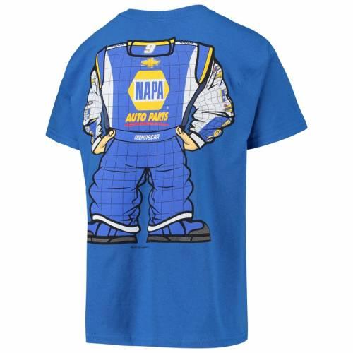 HENDRICK MOTORSPORTS TEAM COLLECTION チェイス 子供用 Tシャツ キッズ ベビー マタニティ トップス ジュニア 【 Chase Elliott Youth Driver Suit T-shirt - Royal 】 Royal