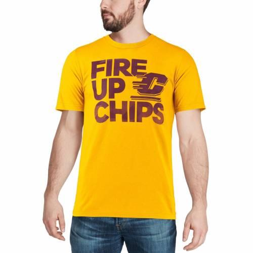 アディダス ADIDAS ミシガン ステルス Tシャツ Cent. メンズファッション トップス カットソー メンズ 【 Cent. Michigan Chippewas Stealth Slogan T-shirt - Gold 】 Gold