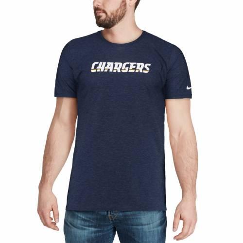 ナイキ NIKE チャージャーズ サイドライン Tシャツ 紺 ネイビー メンズファッション トップス カットソー メンズ 【 Los Angeles Chargers Sideline Player T-shirt - Navy 】 Navy