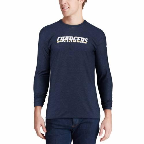 ナイキ NIKE チャージャーズ サイドライン スリーブ Tシャツ 紺 ネイビー メンズファッション トップス カットソー メンズ 【 Los Angeles Chargers Sideline Player Long Sleeve T-shirt - Navy 】 Navy