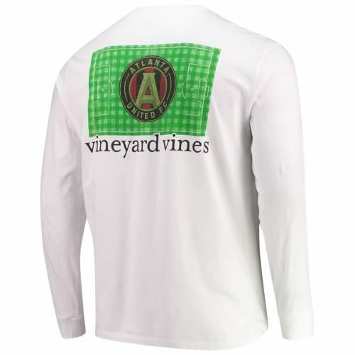 VINEYARD VINES アトランタ フィールド スリーブ Tシャツ 白 ホワイト メンズファッション トップス カットソー メンズ 【 Atlanta United Fc Checkered Field Long Sleeve T-shirt - White 】 White