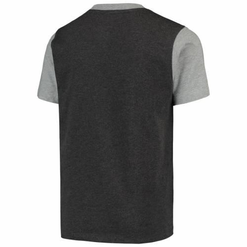 GARB オハイオ スケートボード 子供用 ヘンリー Tシャツ チャコール キッズ ベビー マタニティ トップス ジュニア 【 Ohio State Buckeyes Youth Reece Henley T-shirt - Charcoal 】 Charcoal