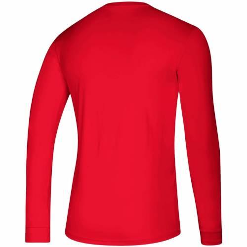 アディダス ADIDAS シカゴ スリーブ Tシャツ 赤 レッド メンズファッション トップス カットソー メンズ 【 Chicago Blackhawks Creator Climalite Long Sleeve T-shirt - Red 】 Red
