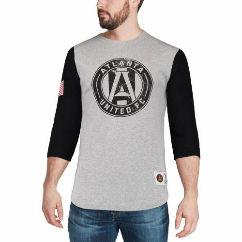 ミッチェル&ネス MITCHELL & NESS アトランタ Tシャツ 灰色 グレー グレイ メンズファッション トップス カットソー メンズ 【 Atlanta United Fc Mitchell And Ness Scoring Position 3/4-sleeve T-shirt - Heath