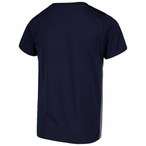 NFL PRO LINE BY FANATICS BRANDED ラムズ 子供用 チーム Tシャツ キッズ ベビー マタニティ トップス ジュニア 【 Los Angeles Rams Youth Team Lockup Colorblock T-shirt - Navy/gray 】 Navy/gray