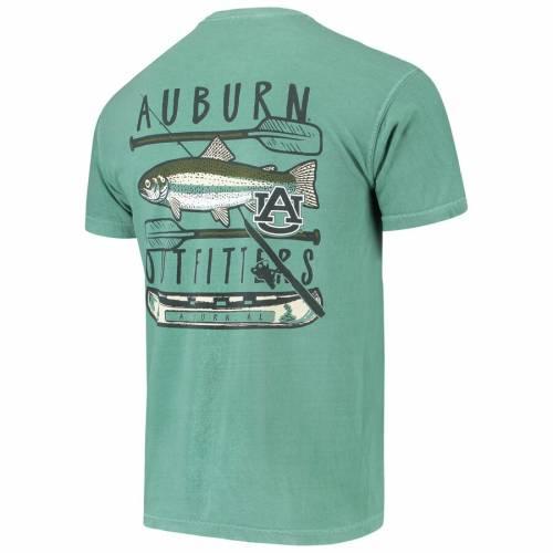 IMAGE ONE タイガース Tシャツ 緑 グリーン 【 GREEN IMAGE ONE AUBURN TIGERS FISHING STACK COMFORT COLORS POCKET TSHIRT 】 メンズファッション トップス Tシャツ カットソー