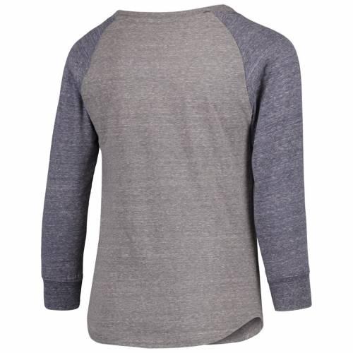 NFL PRO LINE BY FANATICS BRANDED ラムズ 子供用 ラグラン スリーブ Tシャツ 灰色 グレー グレイ キッズ ベビー マタニティ トップス ジュニア 【 Los Angeles Rams Youth Tri-blend Raglan Long Sleeve T-shirt - Hea