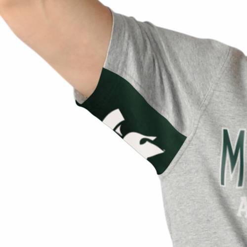 HANDS HIGH ハイ ミシガン スケートボード Tシャツ 灰色 グレー グレイ 【 STATE GRAY HANDS HIGH MICHIGAN SPARTANS CUT BACK FASHION TSHIRT 】 メンズファッション トップス Tシャツ カットソー