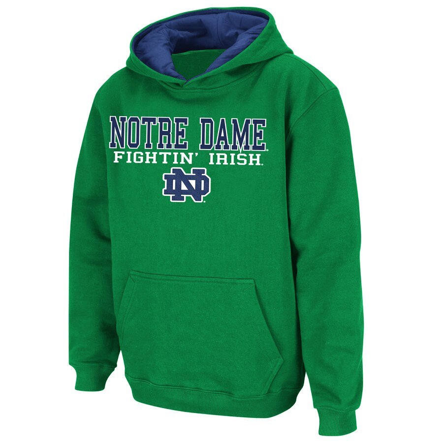 STADIUM ATHLETIC 子供用 緑 グリーン キッズ ベビー マタニティ トップス ジュニア 【 Notre Dame Fighting Irish Youth Stack Ii Hoodie - Kelly Green 】 Kelly Green