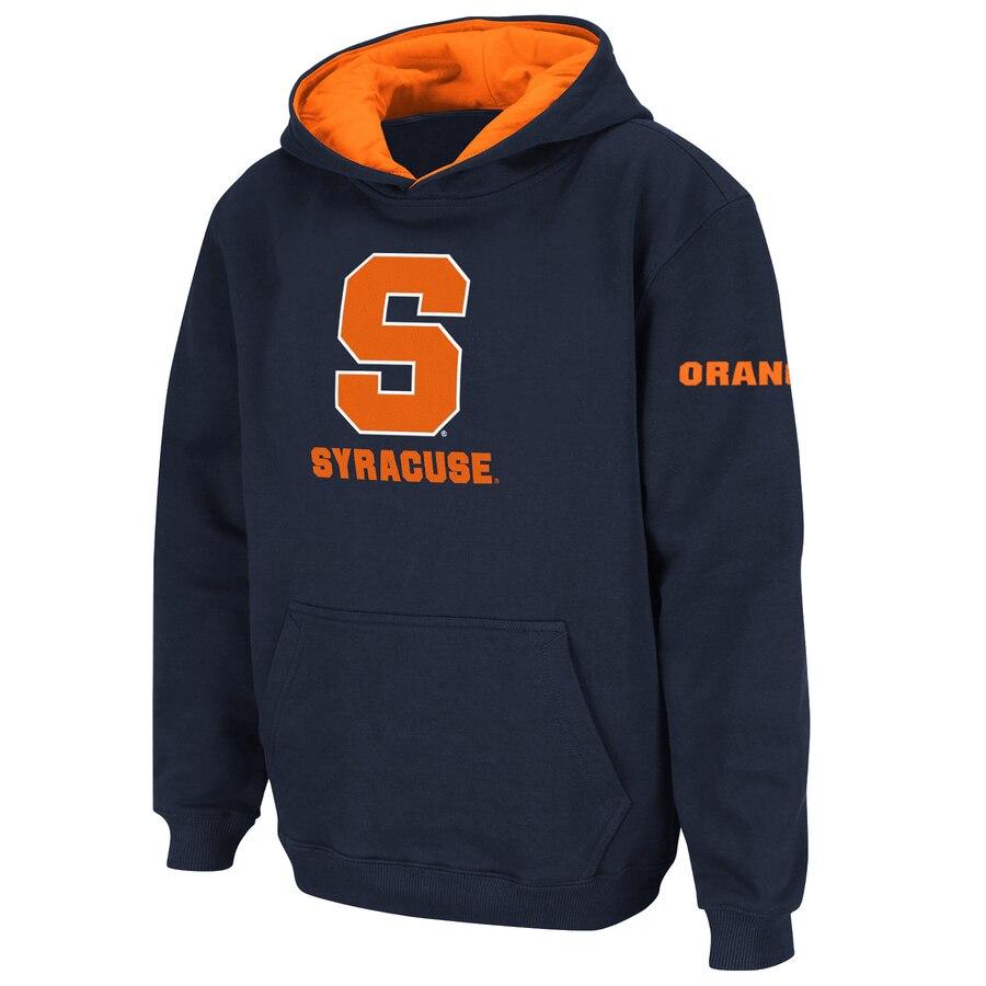 STADIUM ATHLETIC シラキュース 橙 オレンジ 子供用 ロゴ キッズ ベビー マタニティ トップス ジュニア 【 Syracuse Orange Youth Big Logo Pullover Hoodie 】 Navy