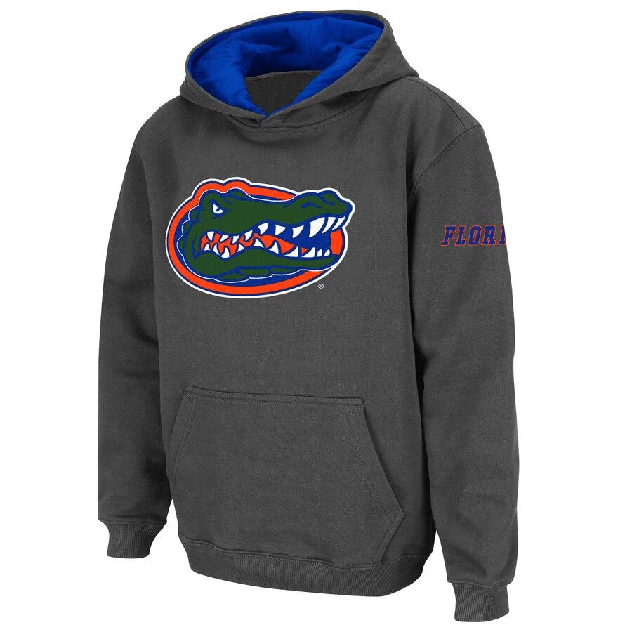 STADIUM ATHLETIC フロリダ 子供用 ロゴ チャコール キッズ ベビー マタニティ トップス ジュニア 【 Florida Gators Youth Big Logo Pullover Hoodie - Charcoal 】 Charcoal