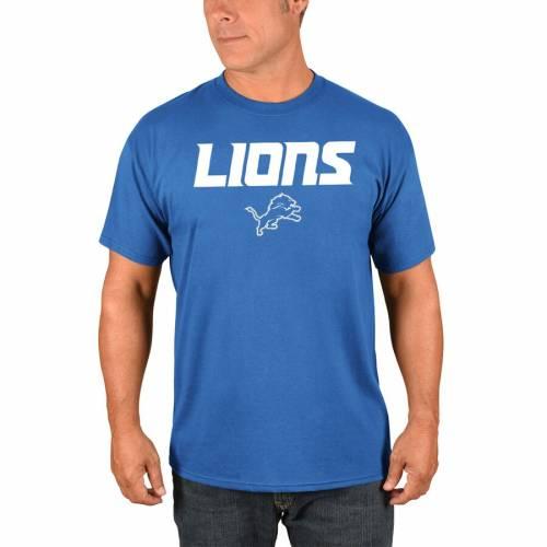 マジェスティック MAJESTIC デトロイト ライオンズ Tシャツ 【 DETROIT LIONS PICK SIX TSHIRT BLUE 】 メンズファッション トップス カットソー 送料無料
