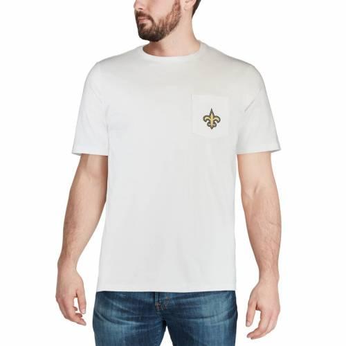 VINEYARD VINES セインツ ロゴ Tシャツ 白 ホワイト メンズファッション トップス カットソー メンズ 【 New Orleans Saints Circle Logo T-shirt - White 】 White