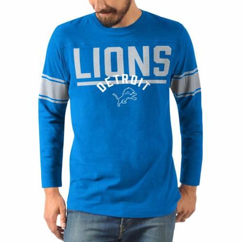 HANDS HIGH デトロイト ライオンズ チャンピオン スリーブ Tシャツ 青 ブルー メンズファッション トップス カットソー メンズ 【 Detroit Lions Champion Slub Long Sleeve T-shirt - Blue 】 Blue