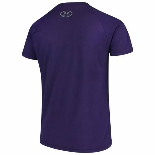 アンダーアーマー UNDER ARMOUR 子供用 テック Tシャツ 紫 パープル 2.0 キッズ ベビー マタニティ トップス ジュニア 【 Northwestern Wildcats Youth 2.0 Circling Wordmark Tech T-shirt - Purple 】 Purple