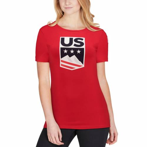 OUTERSTUFF チーム レディース Tシャツ 赤 レッド WOMEN'S 【 TEAM RED OUTERSTUFF USA UNITED TO WIN TSHIRT 】 メンズファッション トップス Tシャツ カットソー