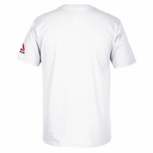 リーボック REEBOK リーボック クリス Tシャツ 白 ホワイト 【 REEBOK WHITE CHRIS WEIDMAN UFC 194 EVENT TSHIRT 】 メンズファッション トップス Tシャツ カットソー