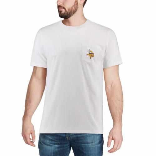 VINEYARD VINES ミネソタ バイキングス ロゴ Tシャツ 白 ホワイト メンズファッション トップス カットソー メンズ 【 Minnesota Vikings Circle Logo T-shirt - White 】 White