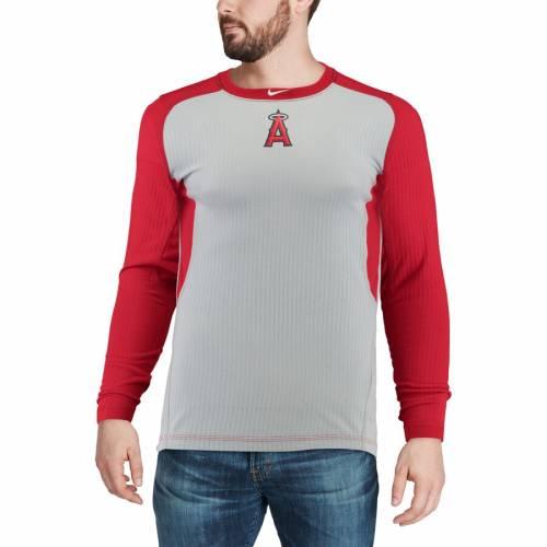 ナイキ NIKE エンジェルス オーセンティック コレクション ゲーム スリーブ Tシャツ メンズファッション トップス カットソー メンズ 【 Los Angeles Angels Authentic Collection Game Long Sleeve T-shirt