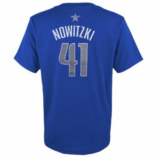アディダス ADIDAS ダラス マーベリックス 子供用 ゲーム タイム Tシャツ キッズ ベビー マタニティ トップス ジュニア 【 Dirk Nowitzki Dallas Mavericks Youth Game Time Flat Name And Number T-shirt - Royal