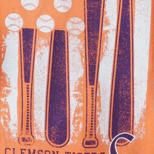 IMAGE ONE タイガース ベースボール Tシャツ 【 CLEMSON TIGERS BASEBALL FLAG COMFORT COLORS TSHIRT ORANGE 】 メンズファッション トップス カットソー 送料無料