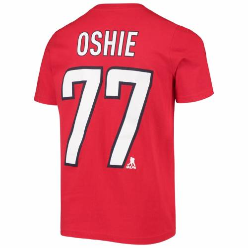 OUTERSTUFF ワシントン 子供用 Tシャツ 赤 レッド キッズ ベビー マタニティ トップス ジュニア 【 Tj Oshie Washington Capitals Youth Player Name And Number T-shirt - Red 】 Red