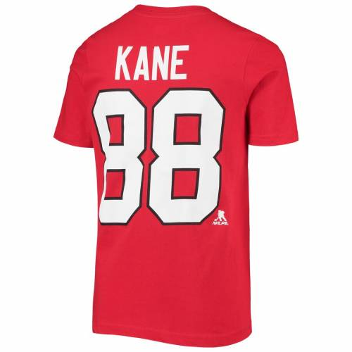 OUTERSTUFF シカゴ 子供用 Tシャツ 赤 レッド キッズ ベビー マタニティ トップス ジュニア 【 Patrick Kane Chicago Blackhawks Youth Player Name And Number T-shirt - Red 】 Red