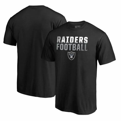 NFL PRO LINE BY FANATICS BRANDED プロ レイダース コレクション Tシャツ 黒 ブラック 【 NFL BLACK PRO LINE BY FANATICS BRANDED LAS VEGAS RAIDERS ICONIC COLLECTION FADE OUT TSHIRT 】 メンズファッション トップス Tシ