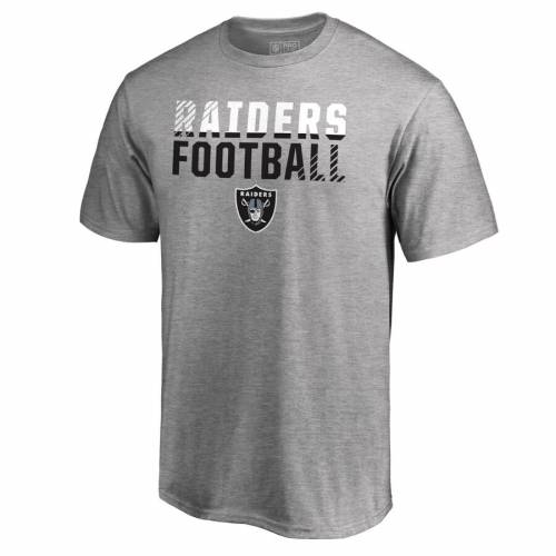 NFL PRO LINE BY FANATICS BRANDED レイダース プロ コレクション Tシャツ 【 LAS VEGAS RAIDERS ICONIC COLLECTION FADE OUT TSHIRT BLACK HEATHER GRAY 】 メンズファッション トップス カットソー 送料無料