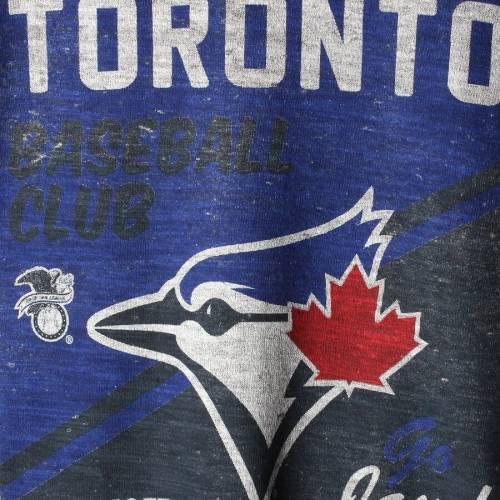 '47 トロント 青 ブルー スケートボード Tシャツ 【 BLUE STATE TORONTO JAYS TRIBLEND TSHIRT HEATHERED GRAY 】 メンズファッション トップス カットソー 送料無料