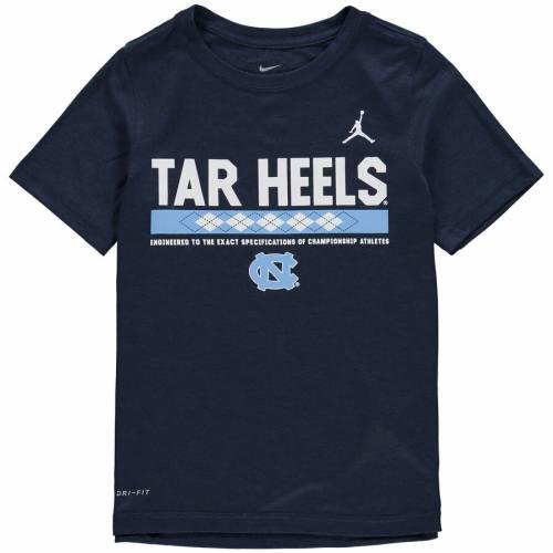 JORDAN BRAND ノース カロライナ 子供用 レジェンド パフォーマンス Tシャツ 紺 ネイビー キッズ ベビー マタニティ トップス ジュニア 【 North Carolina Tar Heels Youth Legend Staff Performance T-shirt - N