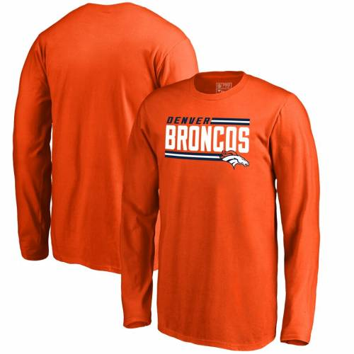 NFL PRO LINE BY FANATICS BRANDED デンバー ブロンコス 子供用 コレクション ストライプ スリーブ Tシャツ 橙 オレンジ キッズ ベビー マタニティ トップス ジュニア 【 Denver Broncos Youth Iconic Collec