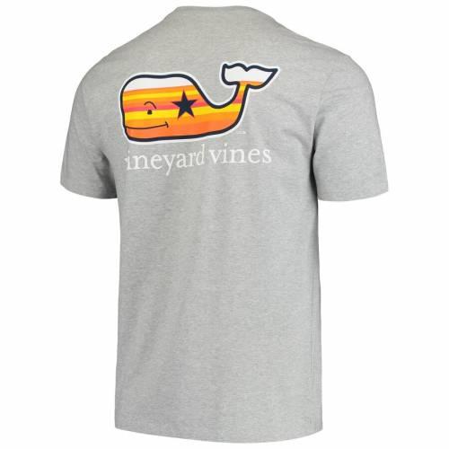 VINEYARD VINES ヒューストン アストロズ Tシャツ 灰色 グレー グレイ メンズファッション トップス カットソー メンズ 【 Houston Astros Filled In Whale T-shirt - Gray 】 Gray