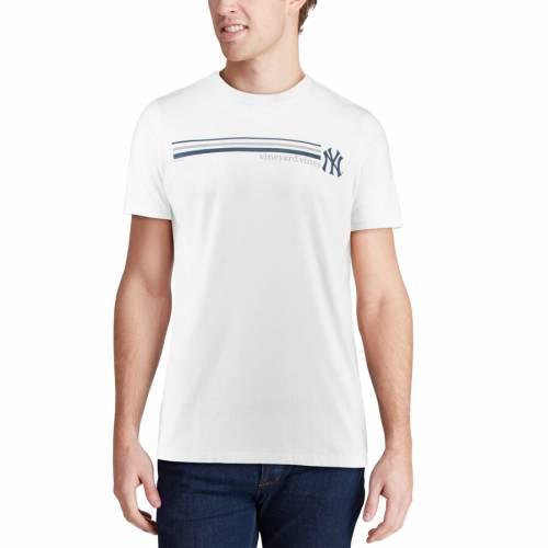 VINEYARD VINES ヤンキース ストライプ Tシャツ 白 ホワイト メンズファッション トップス カットソー メンズ 【 New York Yankees Three Stripe T-shirt - White 】 White