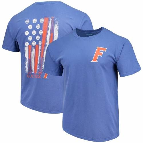 IMAGE ONE フロリダ ベースボール Tシャツ 【 FLORIDA GATORS BASEBALL FLAG COMFORT COLORS TSHIRT ROYAL 】 メンズファッション トップス カットソー 送料無料