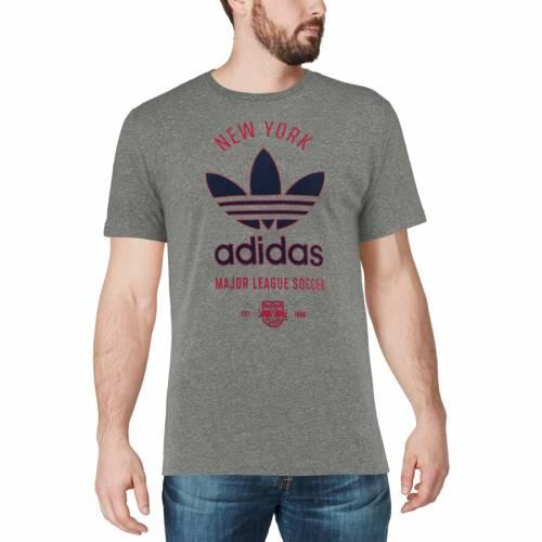 アディダス ADIDAS 赤 レッド ブルズ クラシック Tシャツ 灰色 グレー グレイ メンズファッション トップス カットソー メンズ 【 New York Red Bulls Classic Label Tri-blend T-shirt - Gray 】 Gray