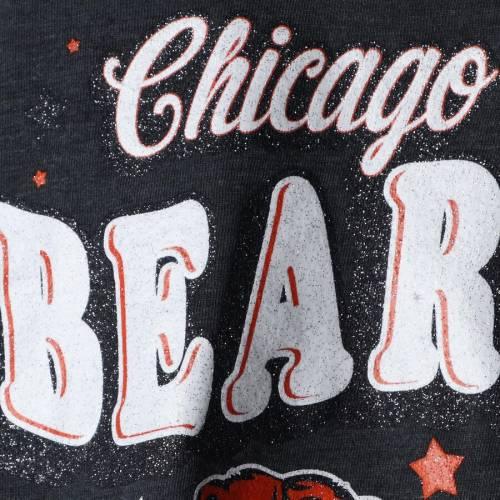 ニューエラ NEW ERA シカゴ ベアーズ 子供用 スリーブ ブイネック Tシャツ 紺 ネイビー キッズ ベビー マタニティ トップス ジュニア 【 Chicago Bears Girls Youth Starring Role Long Sleeve Tri-blend V-neck