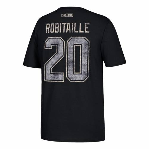 CCM キングス Tシャツ & 【 KINGS LUC ROBITAILLE LOS ANGELES RETIRED PLAYER NAME NUMBER TSHIRT BLACK 】 メンズファッション トップス カットソー 送料無料
