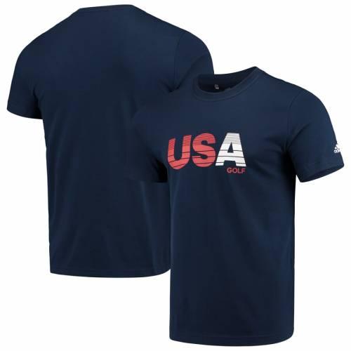 アディダス ADIDAS ゴルフ ロゴ Tシャツ 【 GOLF USA GRADIENT LOGO TSHIRT HEATHERED GRAY NAVY 】 メンズファッション トップス カットソー 送料無料