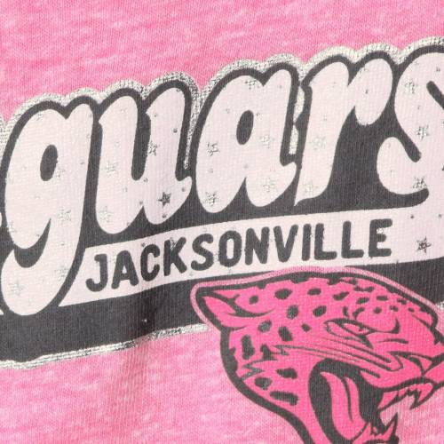 5TH & OCEAN BY NEW ERA ジャクソンビル ジャガース 子供用 ゲーム Tシャツ ピンク キッズ ベビー マタニティ トップス ジュニア 【 Jacksonville Jaguars New Era Girls Youth Star Of The Game Tri-blend T-shirt -