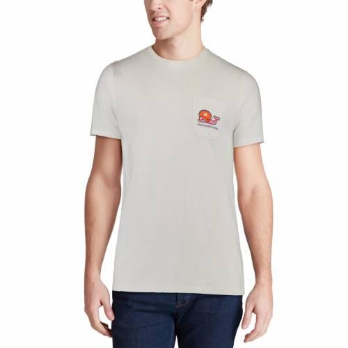 VINEYARD VINES タイガース Tシャツ 白 ホワイト メンズファッション トップス カットソー メンズ 【 Clemson Tigers Pocket T-shirt - White 】 White