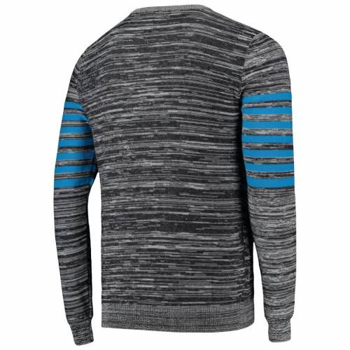 FOCO カロライナ パンサーズ ニット ヘンリー スリーブ Tシャツ 灰色 グレー グレイ メンズファッション トップス カットソー メンズ 【 Carolina Panthers Marled Knit Henley Long Sleeve T-shirt - Gray 】