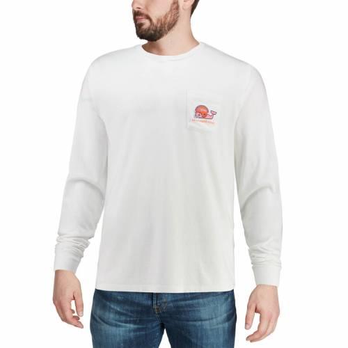 VINEYARD VINES フロリダ スリーブ Tシャツ 白 ホワイト メンズファッション トップス カットソー メンズ 【 Florida Gators Long Sleeve Pocket T-shirt - White 】 White