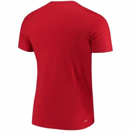 アディダス ADIDAS 赤 レッド ブルズ Tシャツ 灰色 グレー グレイ 【 RED GRAY ADIDAS NEW YORK BULLS CULTURE CREW CLIMALITE TSHIRT HEATHERED 】 メンズファッション トップス Tシャツ カットソー