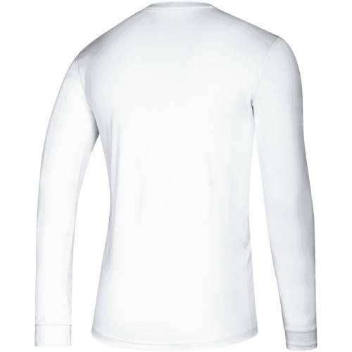 アディダス ADIDAS インディアナ プラクティス スリーブ Tシャツ 白 ホワイト メンズファッション トップス カットソー メンズ 【 Indiana Hoosiers Hoops Practice Creator Climalite Long Sleeve T-shirt - Whi