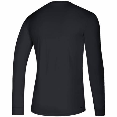 アディダス ADIDAS カロライナ スリーブ Tシャツ 黒 ブラック 【 SLEEVE BLACK ADIDAS CAROLINA HURRICANES CREATOR CLIMALITE LONG TSHIRT 】 メンズファッション トップス Tシャツ カットソー