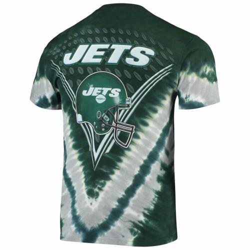 マジェスティック MAJESTIC ジェッツ Tシャツ 【 JETS NEW YORK V TIEDYE TSHIRT GREEN 】 メンズファッション トップス カットソー 送料無料
